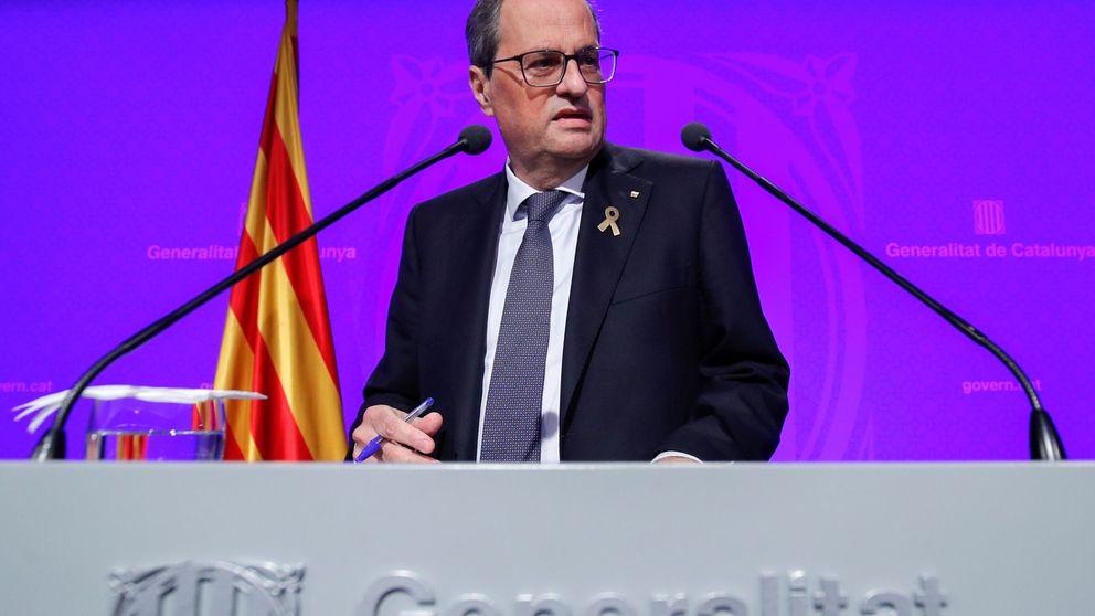 Torra culpa a infiltrados y a provocadores de las noches de disturbios en Cataluña