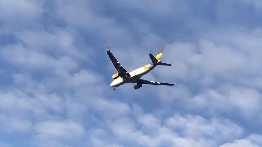 Foto: El último vuelo de Thomas Cook aterriza en Manchester. (Reuters)