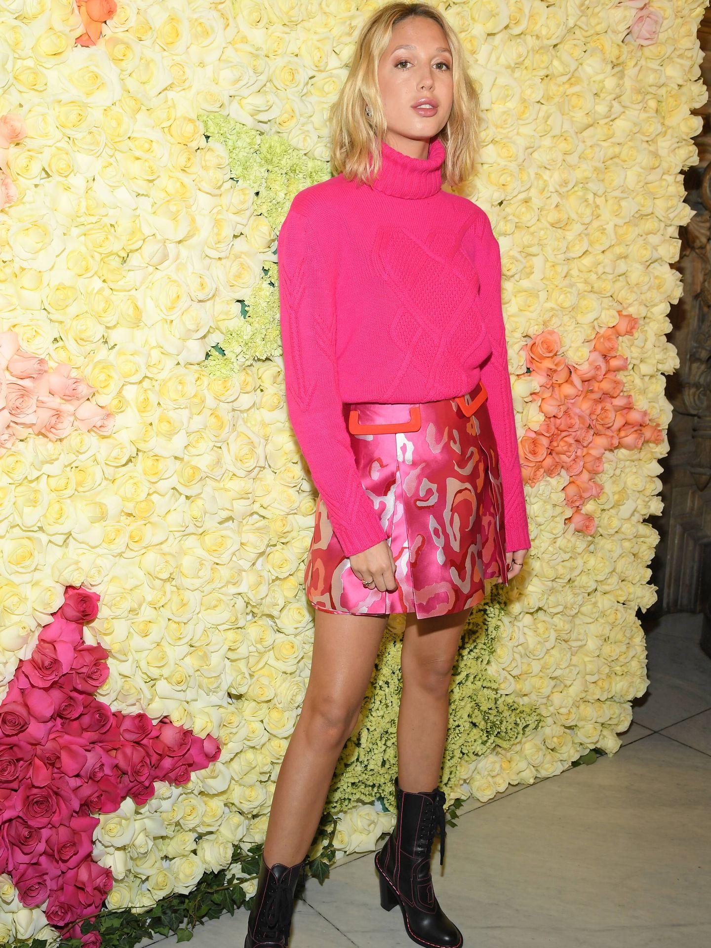 La princesa, en el desfile de Schiaparelli Haute Couture. (Getty)