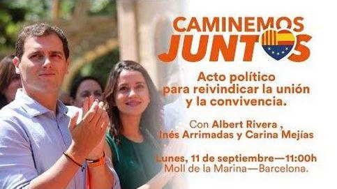 #CaminemosJuntos: Acto por la convivencia y la democracia. 11Sep 2017