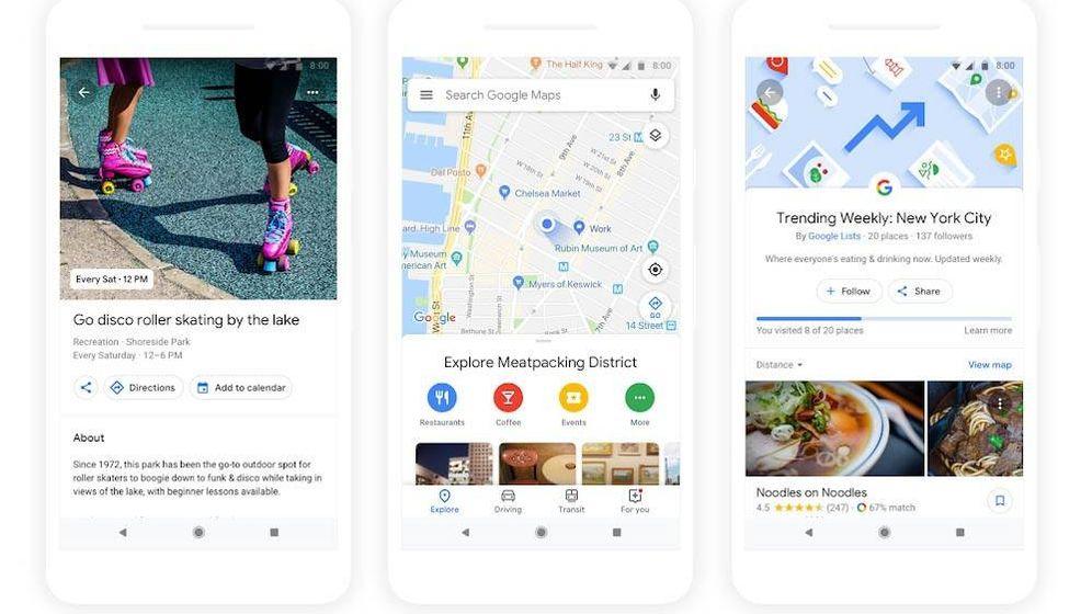 Foto: Así será el nuevo diseño de Google Maps. (Imagen: Google)