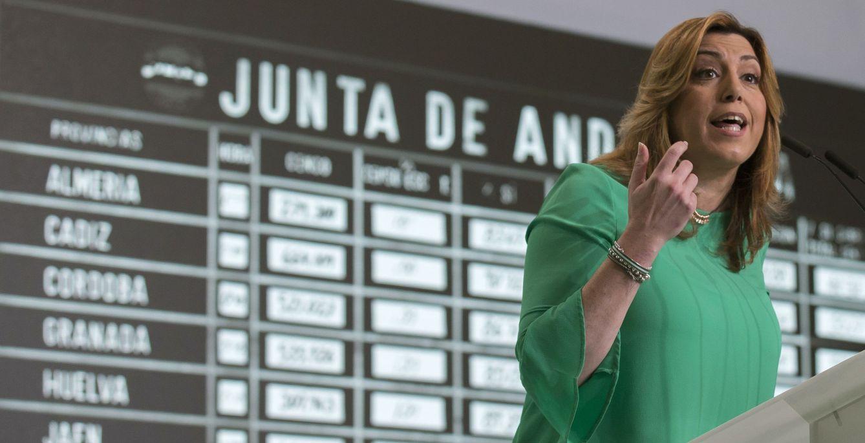 Susana Díaz, en el acto del Día de Andalucía celebrado por el PSOE-A en Sevilla, este 27 de febrero. (EFE)