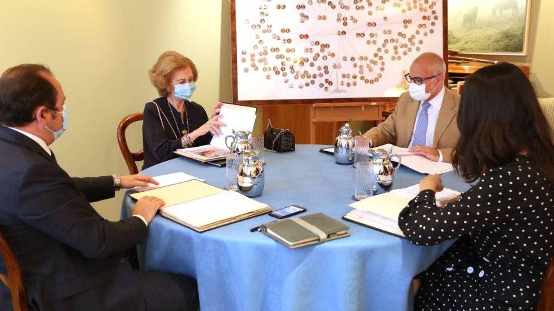 Un momento de la reunión de la Fundación Reina Sofía. (FRS)