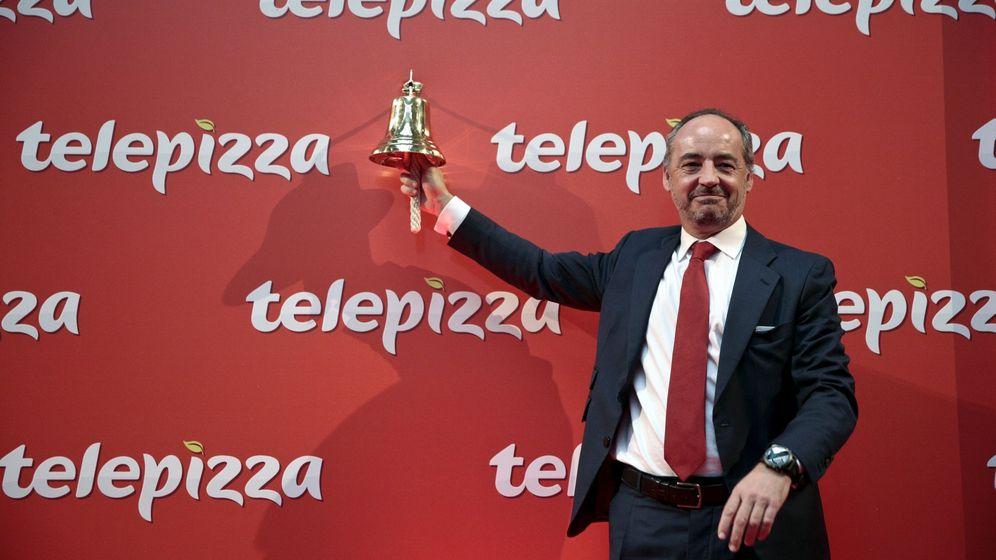 Foto: El CEO de Telepizza, Pablo Juantegui, en una imagen durante la salida a bolsa de la compañía. (EFE)