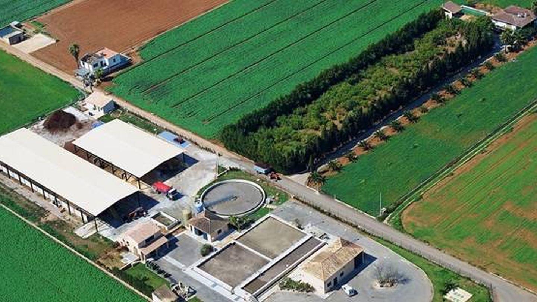 Vista aérea de una planta de compostaje de Tirme. (Tirme.com)