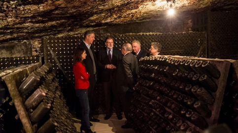 Rajoy visita las bodegas de Freixenet