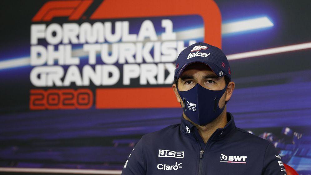 Foto: 'Checo' Pérez durante la rueda de prensa del Gran Premio de Turquía de este fin de semana. (EFE)