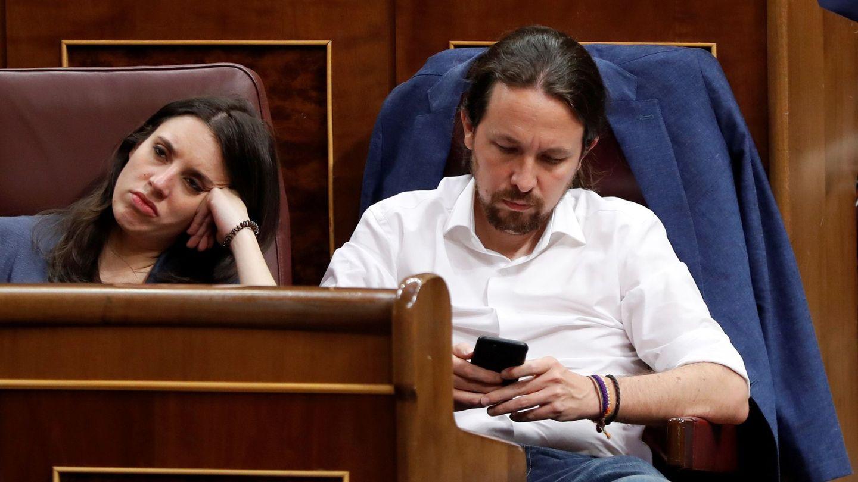 La pareja en el Congreso. (EFE)