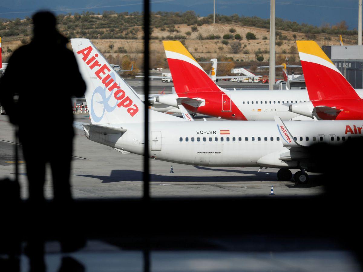 Foto: Aviones de Iberia y Air Europa. (EFE)