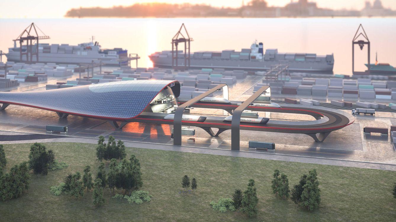 Foto: Diseño del 'Hyperport' que se construirá en Hamburgo en 2023. (Mormedi)