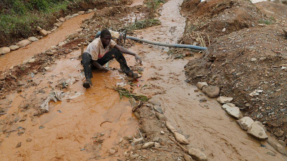 Las minas abiertas de oro del Congo