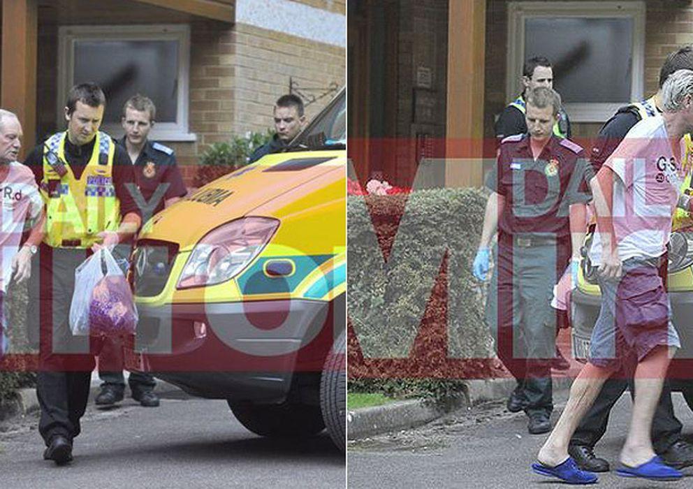 Foto: Gascoigne fue trasladado a un hopital (Foto: Daily Mirror)