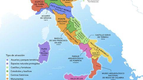 Toma nota: esta es la atracción turística más popular en cada región italiana