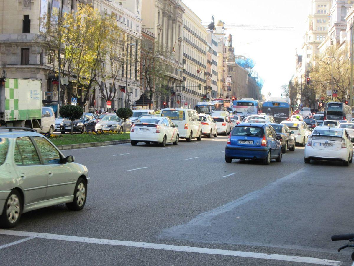 Foto: Atasco en el centro de una ciudad.