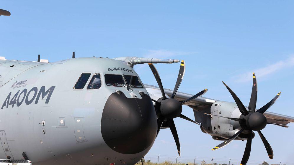 Foto: Un A400M en la planta de ensamblaje de Sevilla. (Airbus).