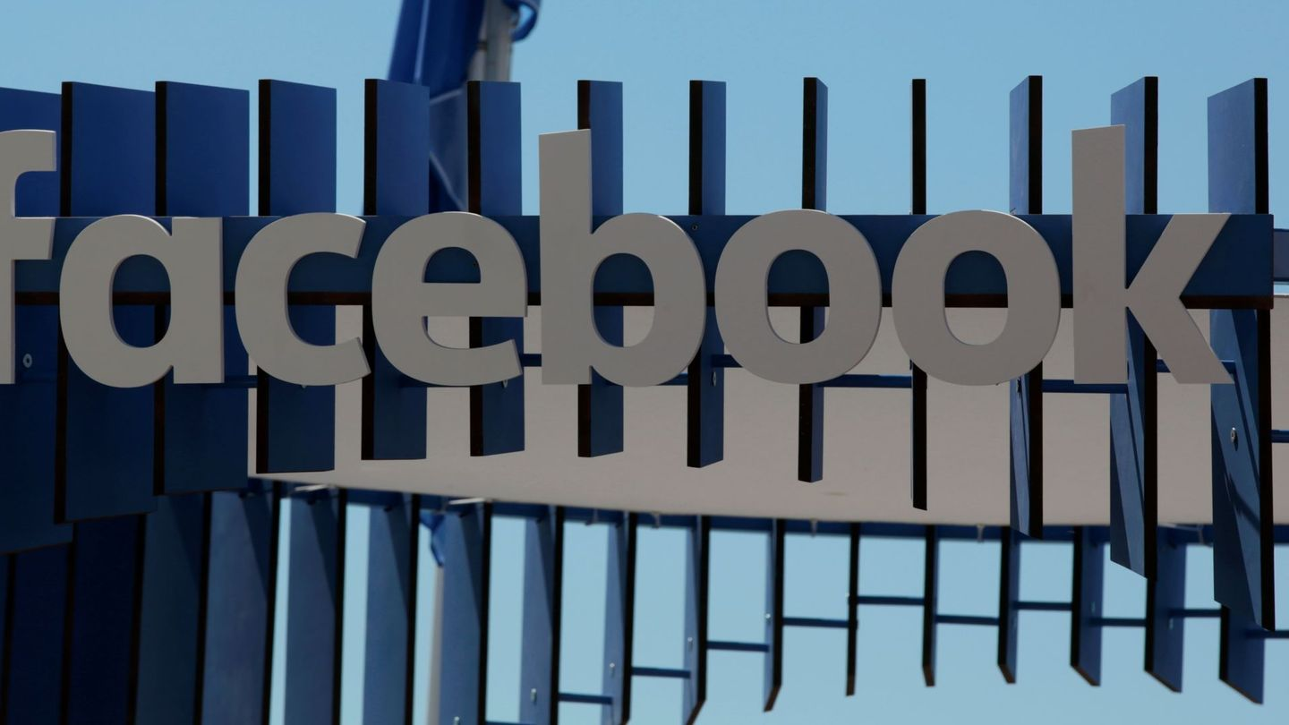 The logo of Facebook is seen at the Cannes Lions Festival in Cannes, France on June 23, 2016.  REUTERS Eric Gaillard File Photo