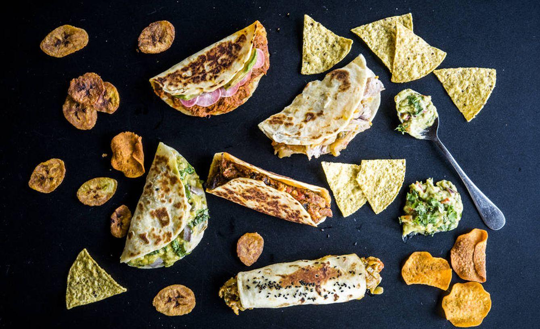 Foto: Mix de tacos y guacamole, de Comala