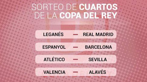 Leganés-Madrid, Espanyol-Barcelona y Atlético-Sevilla, en cuartos de la Copa