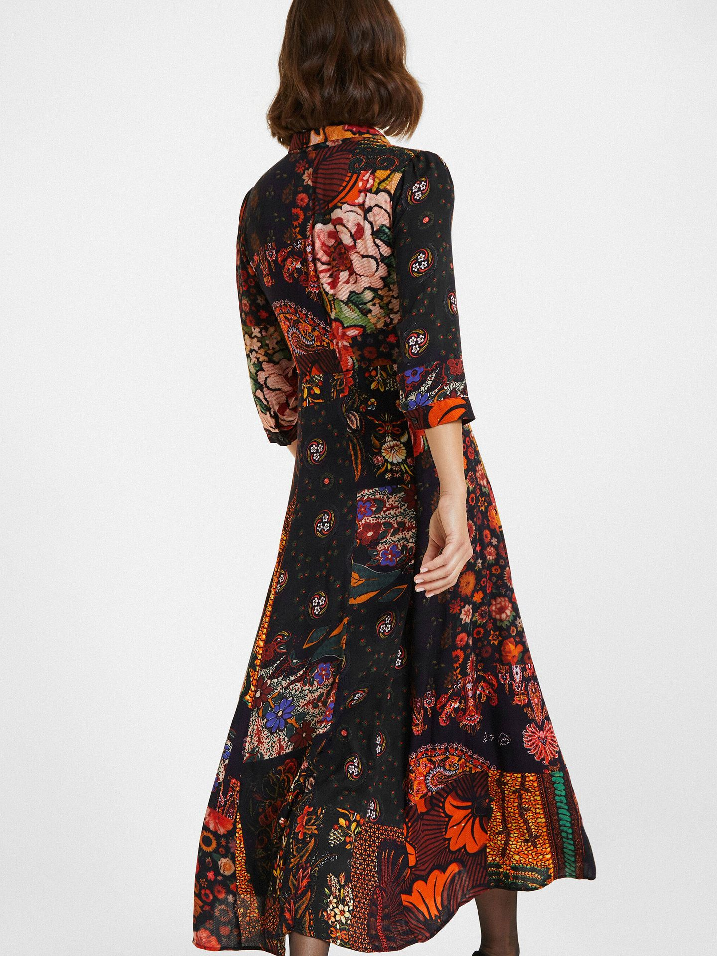 Marta Lozano y el vestido de Desigual más ideal. (Cortesía)