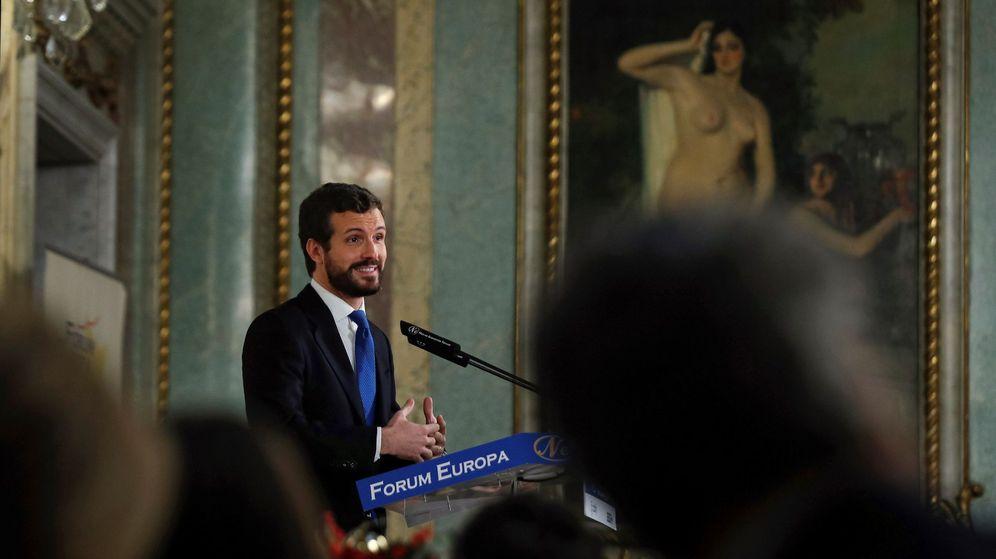 Foto: El líder del PP, Pablo Casado, en un acto. (EFE)