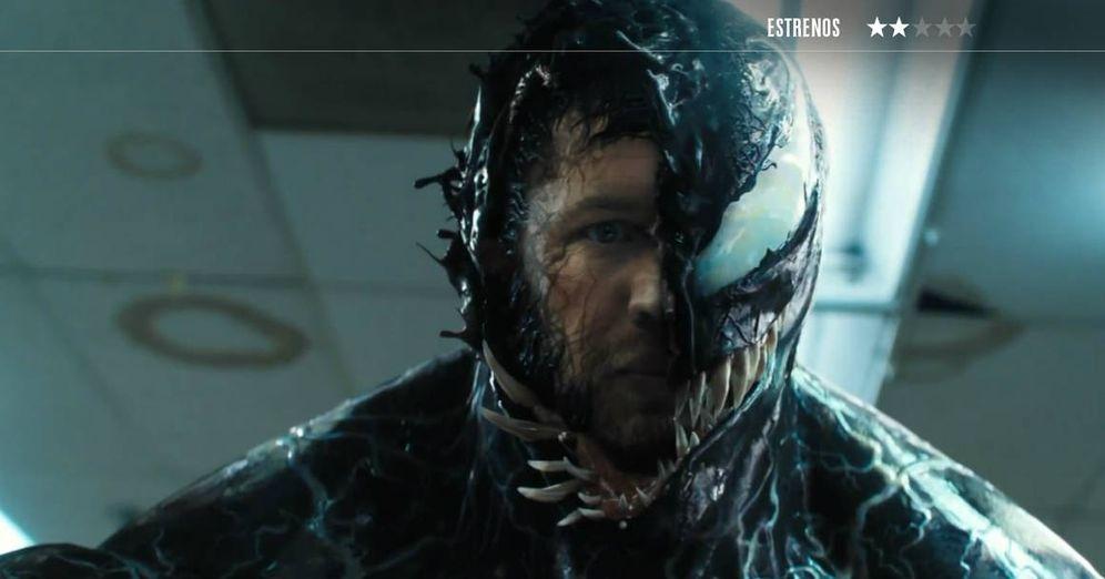 Foto: Bajo la capa de efectos especiales de 'Venom', se esconde Tom Hardy. (Sony)