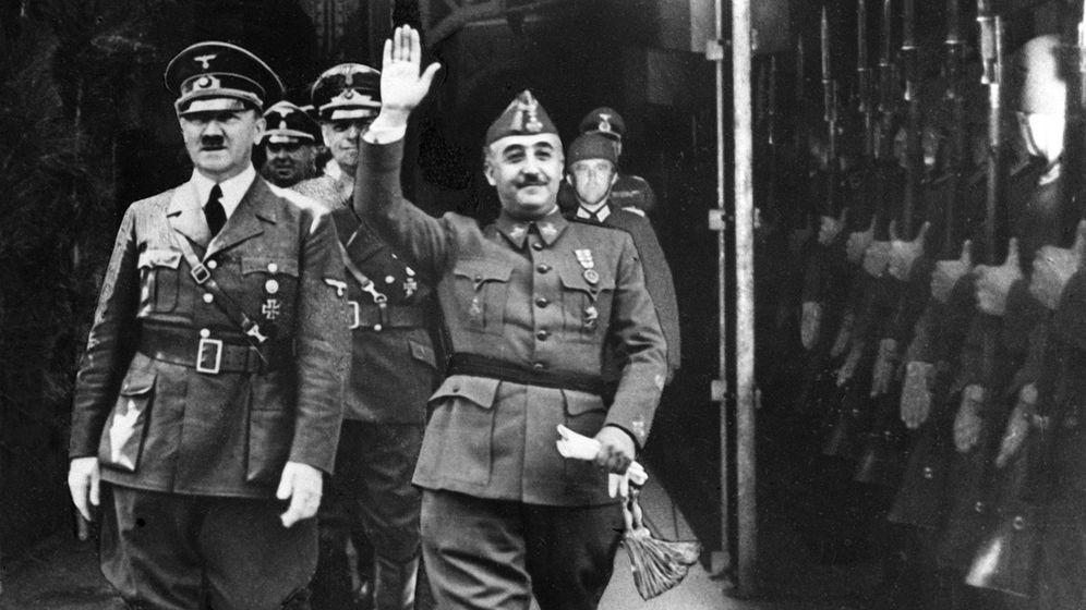Foto: Francisco Franco y Adolf Hitler, en Hendaya, en octubre de 1940.
