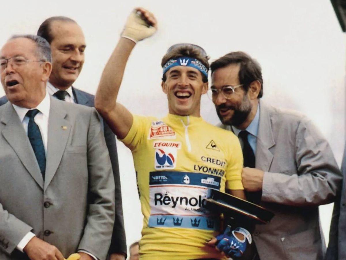 Foto: Perico Delgado, uno de los ciclistas españoles más emblemáticos.
