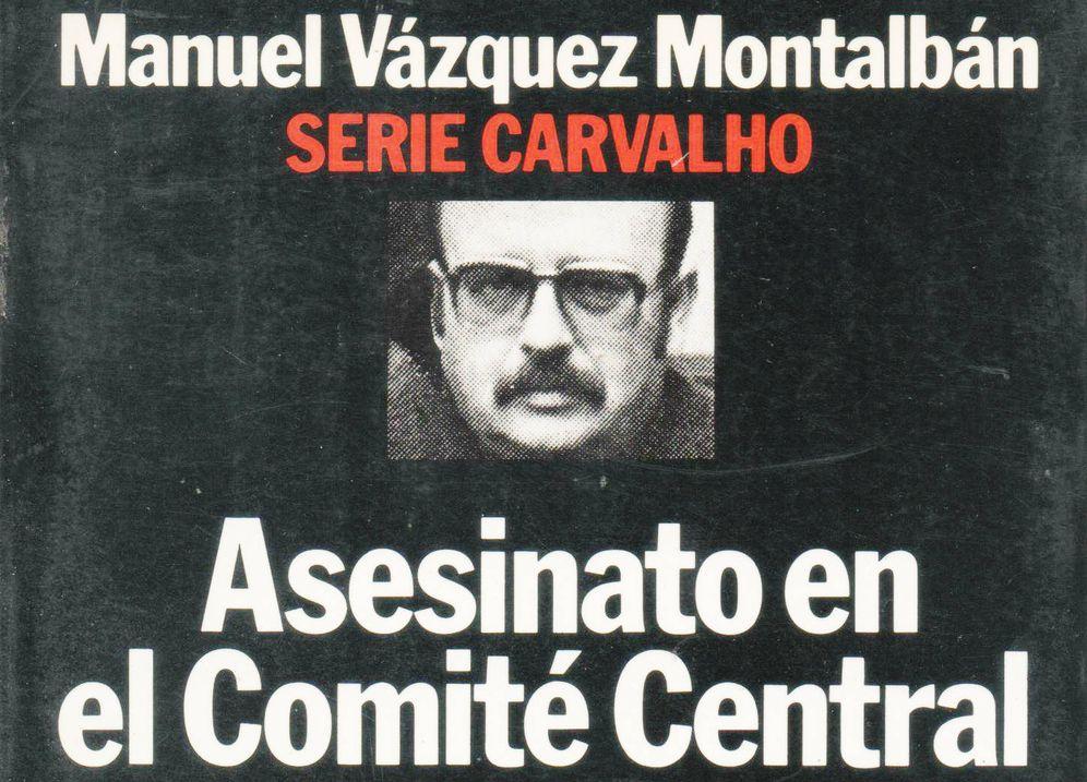 Foto: Detalle de portada de la primera edición en Planeta de 'Asesinato en el comité central', de Vázquez Montalbán