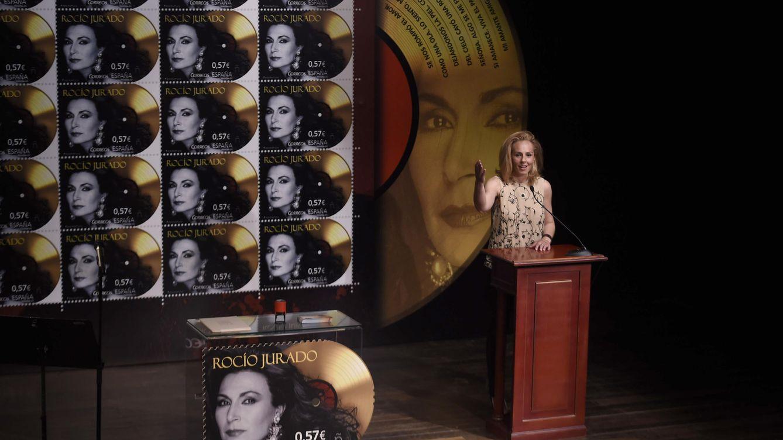 Foto: Rocío Carrasco durante la presentación del sello (Gtres)