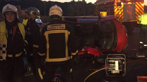 Cuatro heridos, dos muy graves, en un accidente en la M-40 a la altura de Pozuelo