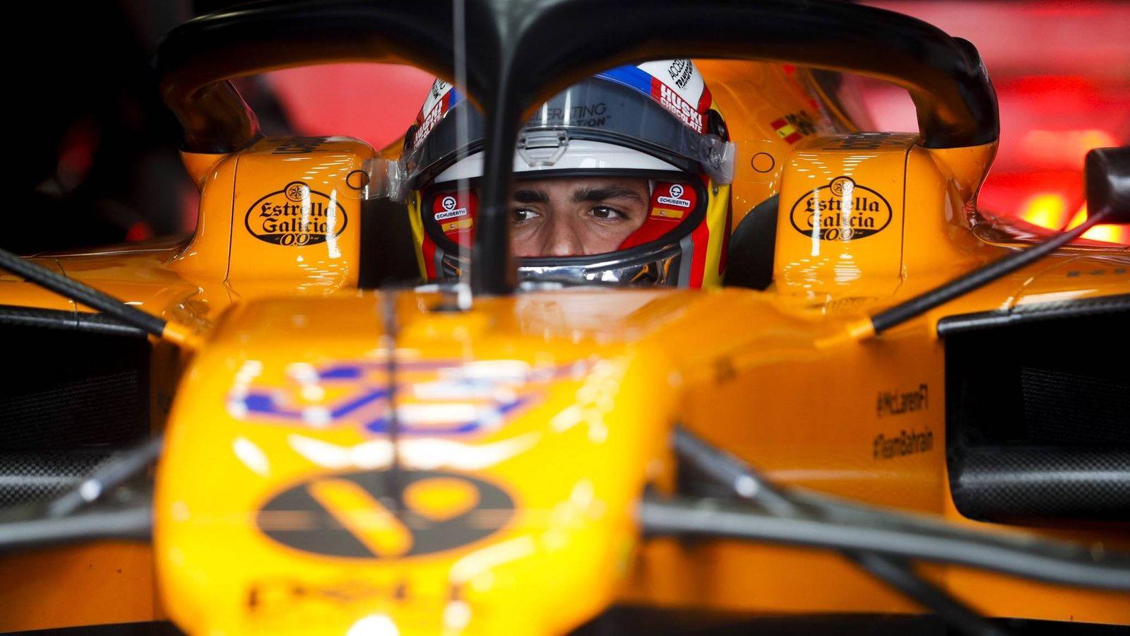 Foto: Carlos Sainz este fin de semana en el GP de Mónaco. (@McLarenF1)
