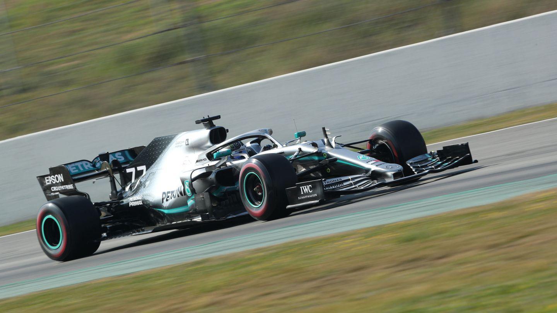 Bottas en acción con su Mercedes. (Reuters)
