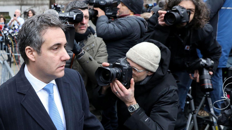 El exabogado de Trump, Michael Cohen, tras ser sentenciado a tres años de cárcel en un tribunal de Nueva York, el 12 de diciembre de 2018. (Reuters)