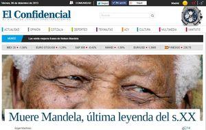 Primer aniversario de la muerte de Nelson Mandela: 100 portadas que anunciaron su fallecimiento