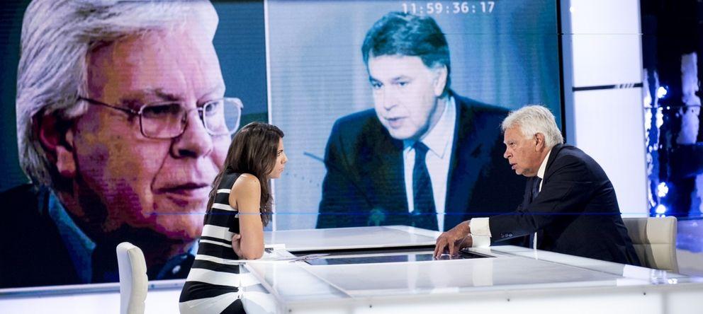 Foto: Felipe González, durante la entrevista en la Sexta.
