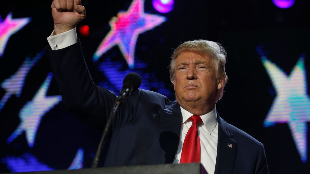 Foto: El candidato republicano, Donald Trum, durante un mitin en Nueva Jersey. (Reuters)