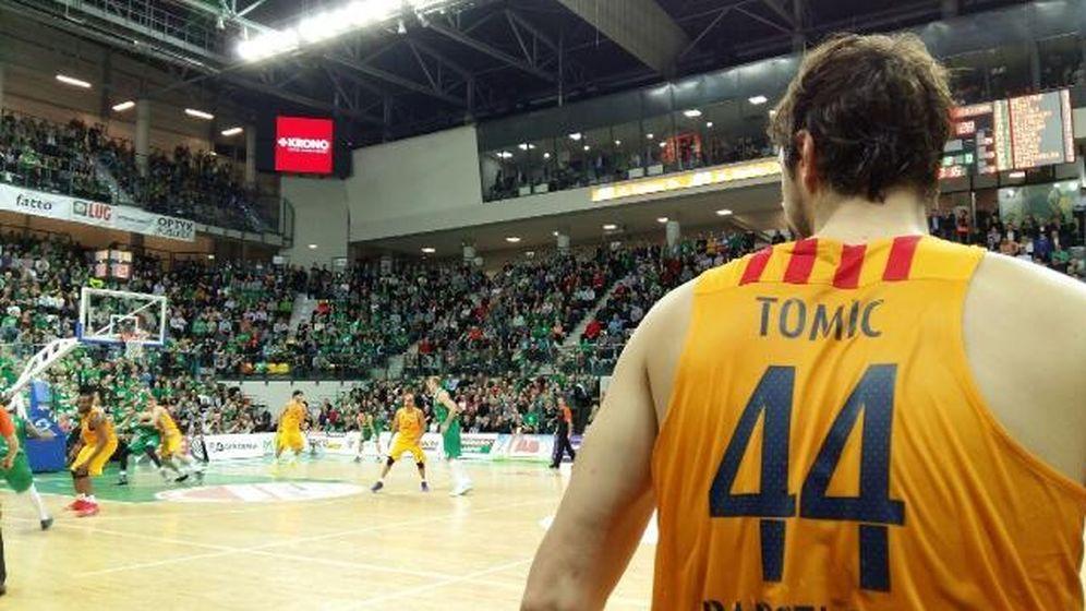 Foto: Tomic aportó 12 puntos a la victoria del Barça (@FCBbasket).