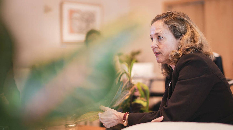 La ministra de Economía en funciones, Nadia Calviño. (Jorge Álvaro Manzano)