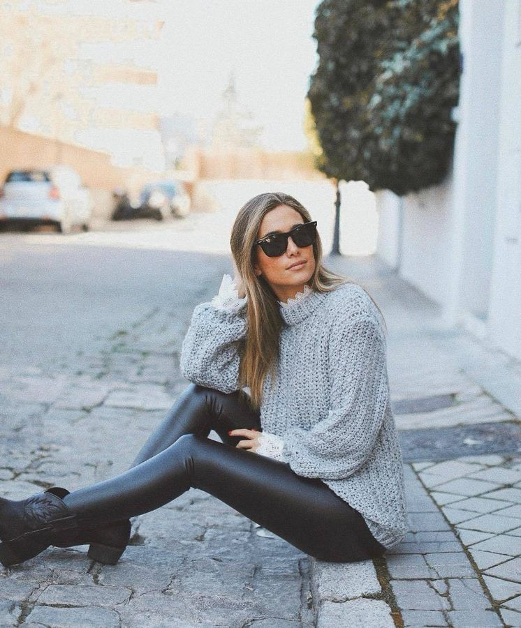 Foto: La influencer María Pombo con unos leggings de Calzedonia. (Instagram)