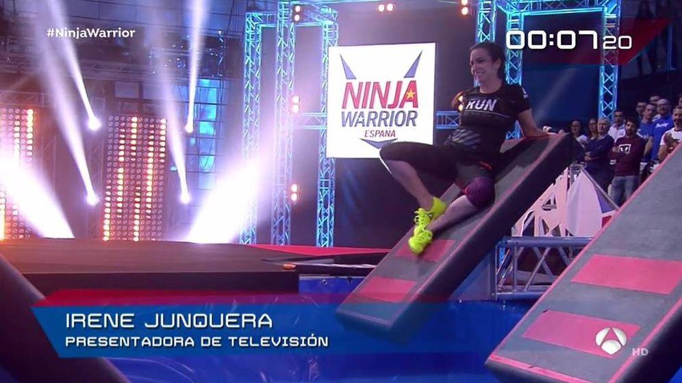 Foto: Irene Junquera en 'Ninja Warrior'.