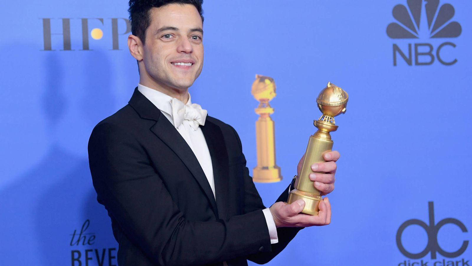 Foto: Rami Malek, tras ganar el Globo de Oro. (Getty)