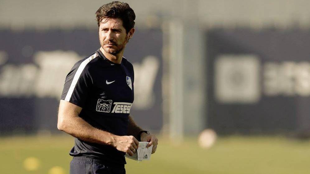 Foto: Víctor Sánchez del Amo en un entrenamiento con el Málaga. (Efe)