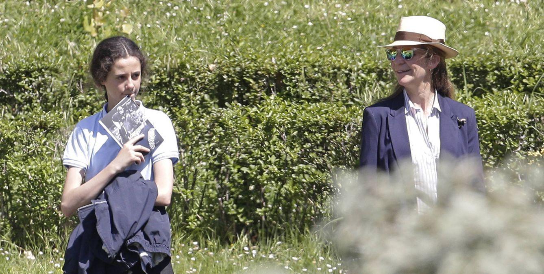 Foto: Doña Elena con su hija Victoria Federica el pasado mes de mayo en Madrid (Gtres)