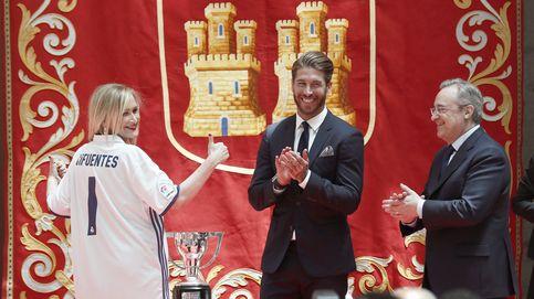 Carmena y Cifuentes rinden homenaje al Real Madrid