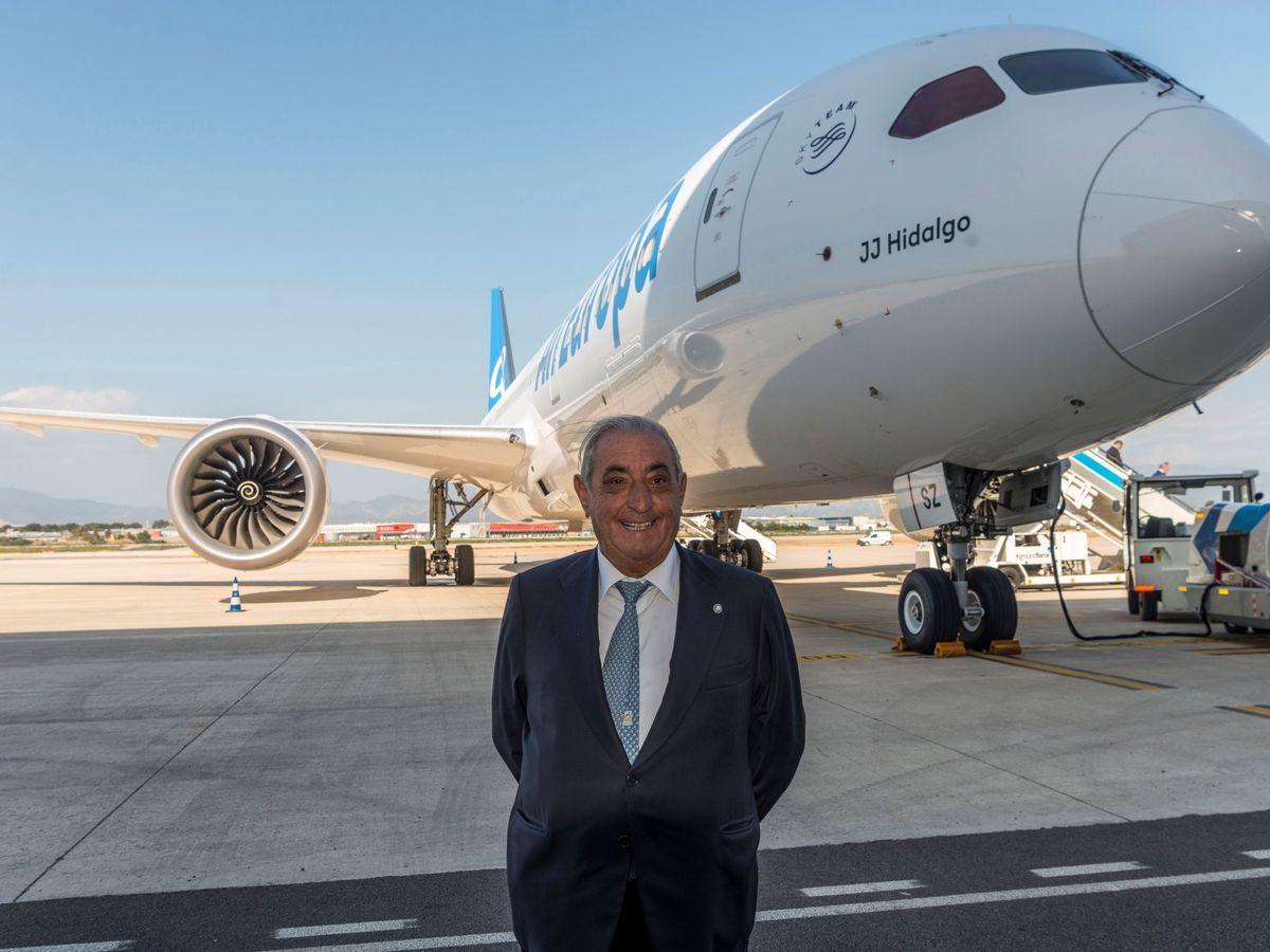 Foto: Juan José Hidalgo, en la inauguración del primer Boeing 787-9 de Air Europa. (EFE)