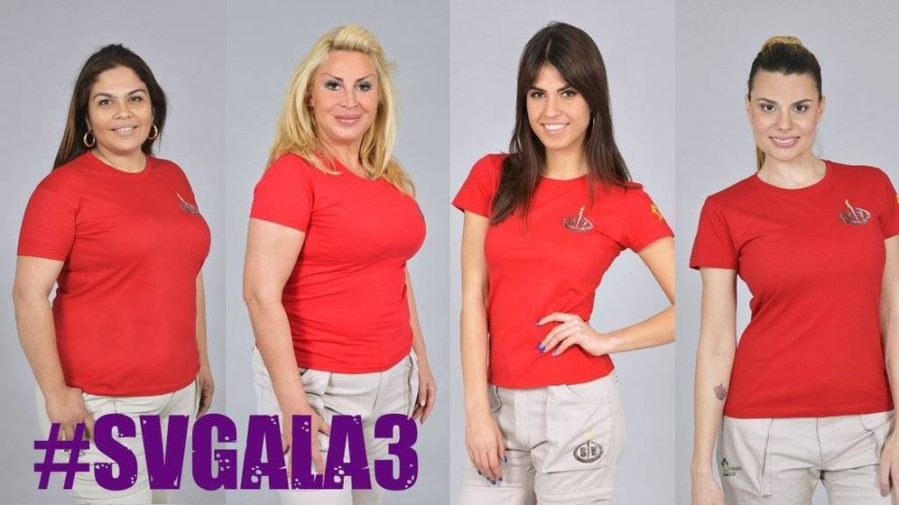 Foto: Sofía, Saray, Raquel y María, nominadas en 'Supervivientes. (Telecinco)
