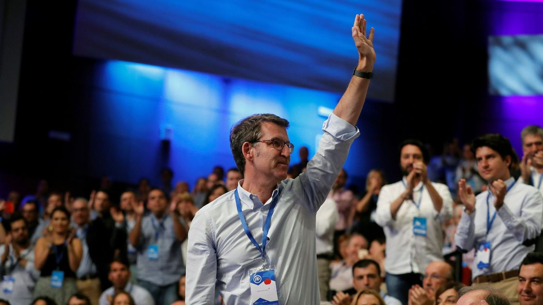 Foto: Alberto Núñez Feijóo, durante el XIX Congreso del partido. (EFE)