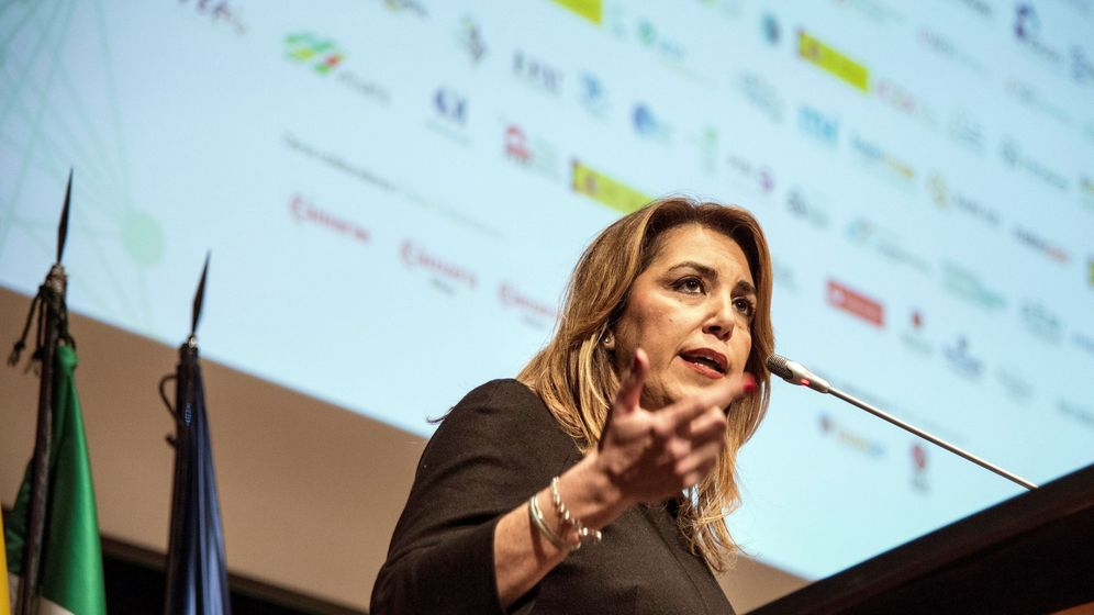 Foto: La presidenta de la Junta de Andalucía, Susana Díaz, durante un acto celebrado en Málaga el pasado 14 de febrero. (EFE)