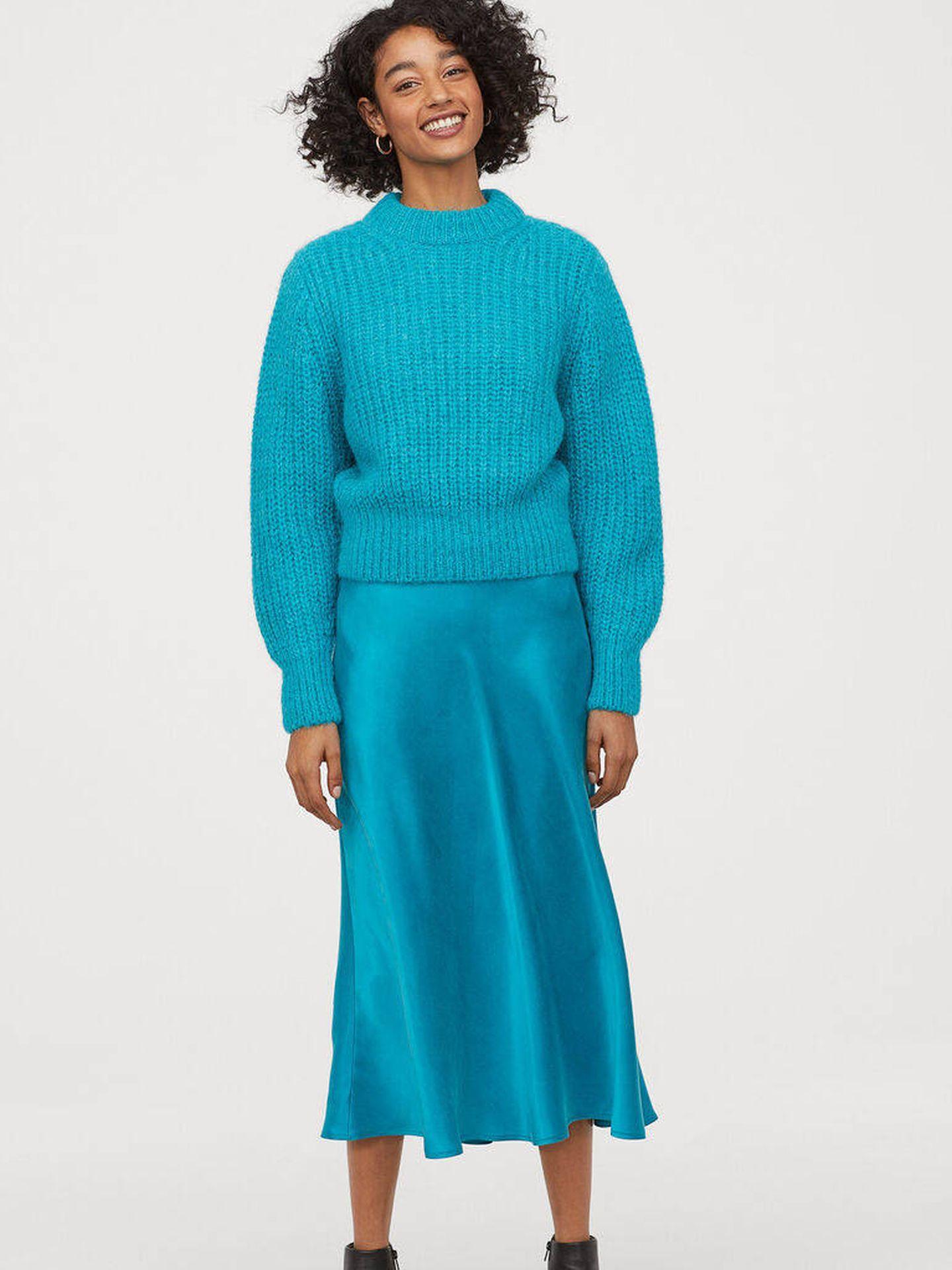 La falda satinada de HyM. (Cortesía)