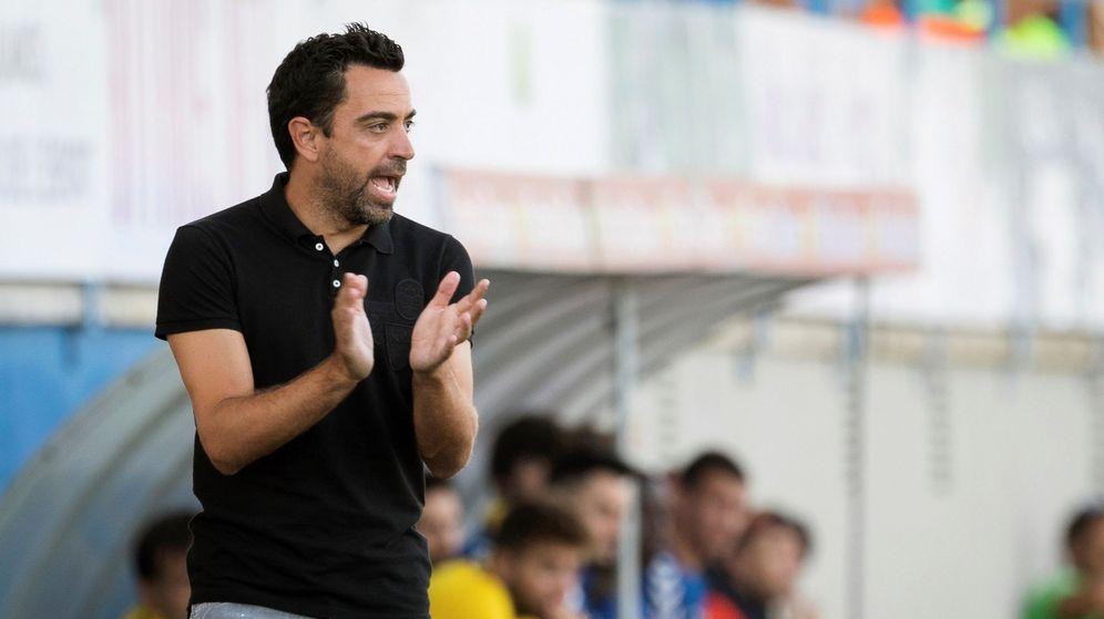 Foto: Xavi Hernández, en un partido dirigiendo al Al-Sadd. (EFE)